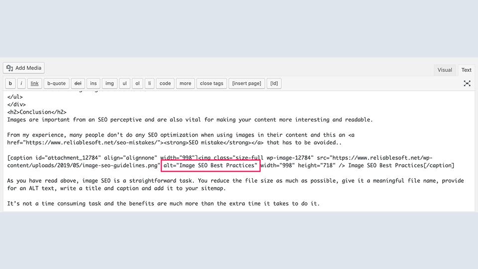 اضافه کردن متن alt با کد HTML