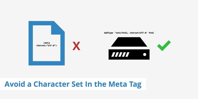 خطا Avoid a character set in the meta tag در جی تی متریکس