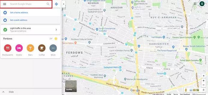 مرحله 2 ثبت مکان در گوگل مپ