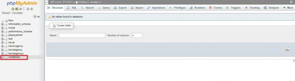 database را تنظیم کنید