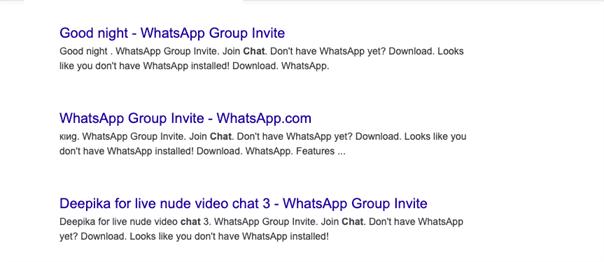 ایندکس گروه واتس اپ در گوگل
