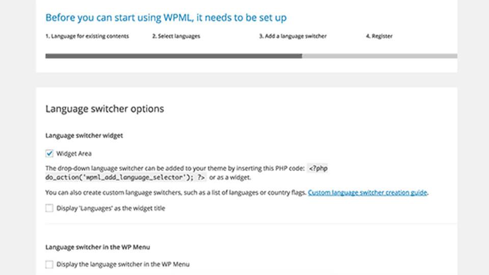تغییر زبان با افزونه WPML