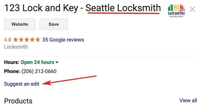 حذف یا ویرایش اسپم Google My Business