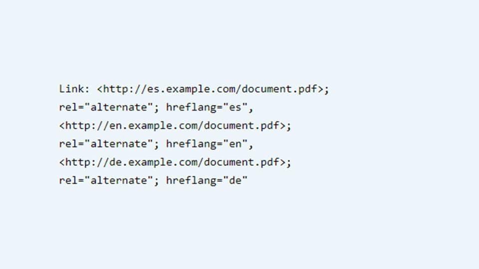 HTTP hreflang