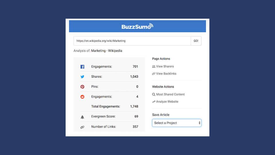 افزونه Buzzsumo