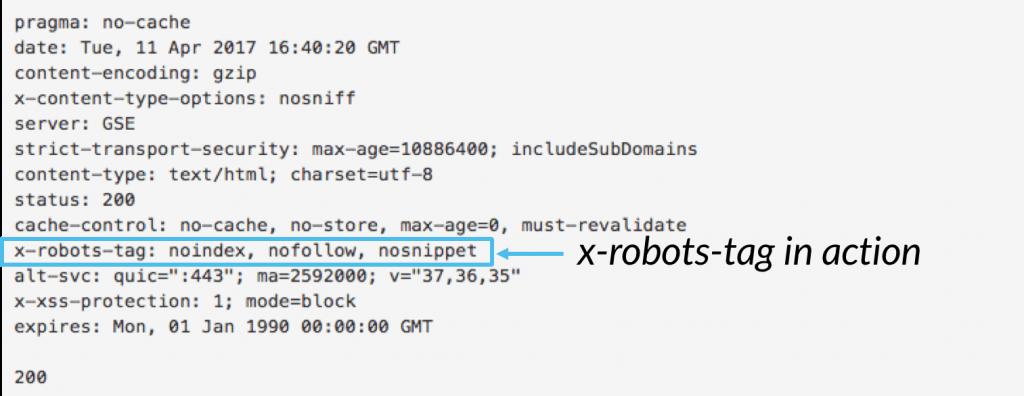 X-robots-tag
