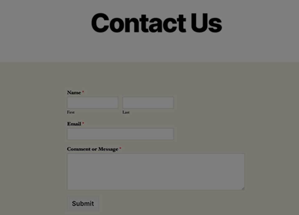 فرم تماس با ما در وردپرس