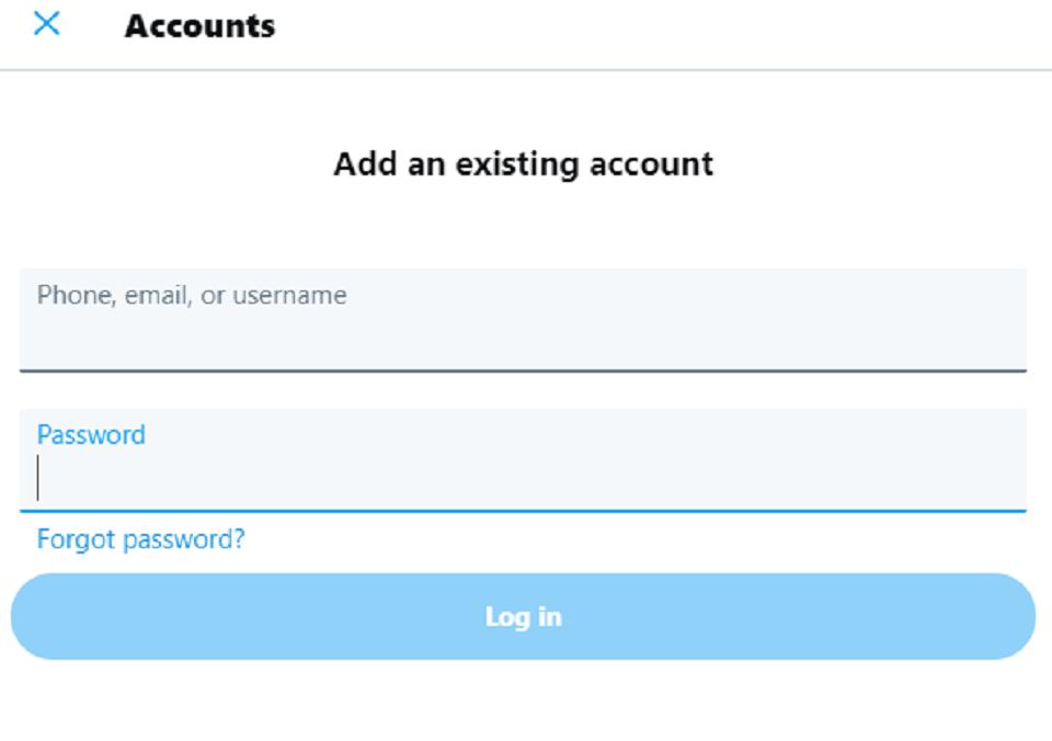 ترفند توئیتر ، اضافه کردن چندین حساب کاربری