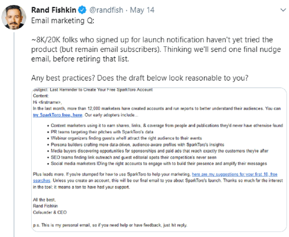 ترفند توئیتر ، rand fishkin