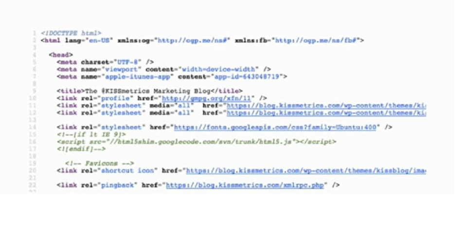 بهینه کردن سورس کد وب سایت : نمایش خط کد ها