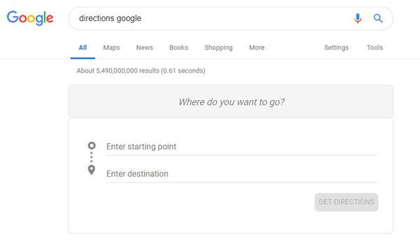 شناسایی رقبای محلی: directons google
