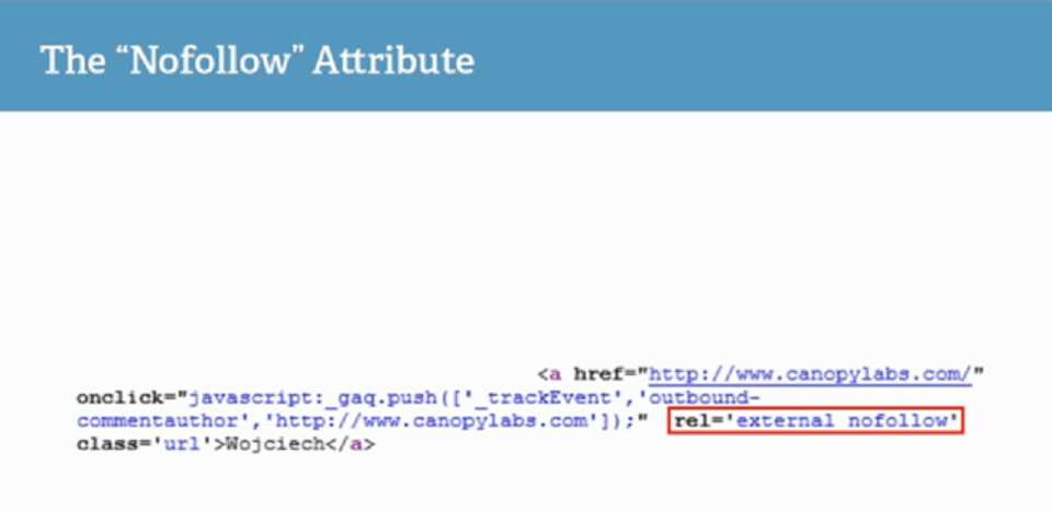بهینه کردن سورس کد وب سایت : nowfollow