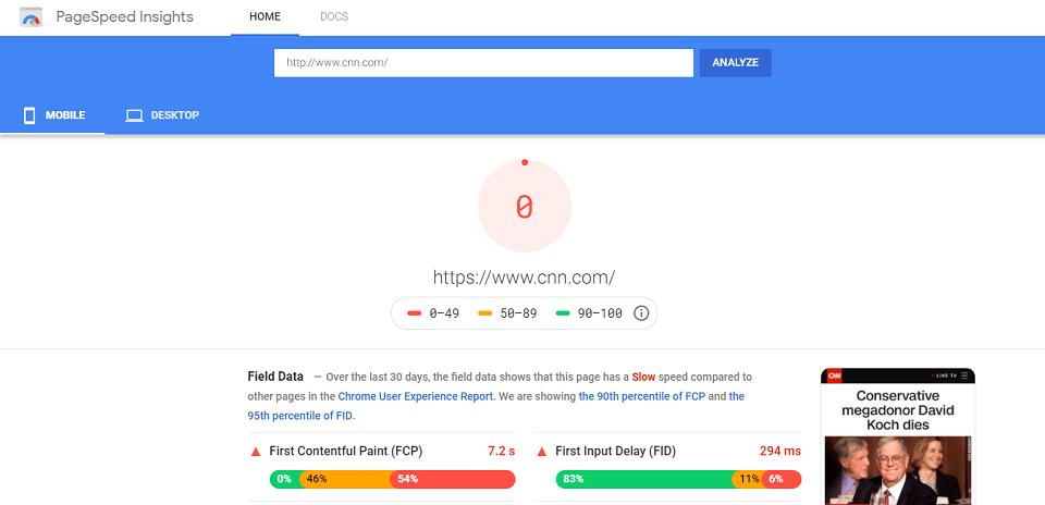 موتورهای جستجو چگونه طول محتوا را بررسی و آن را ارزیابی می کنند : سرعت دانلود صفحه از طریق HTML