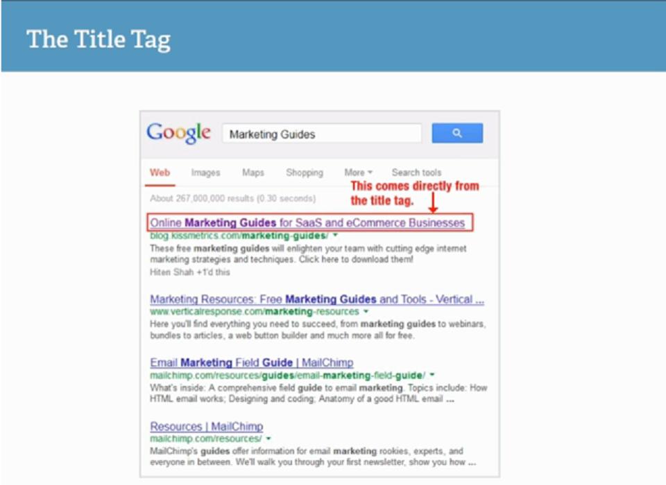بهینه کردن سورس کد وب سایت : نمایش سایت بر اساس تگ title در موتور جستجوگر گوگل