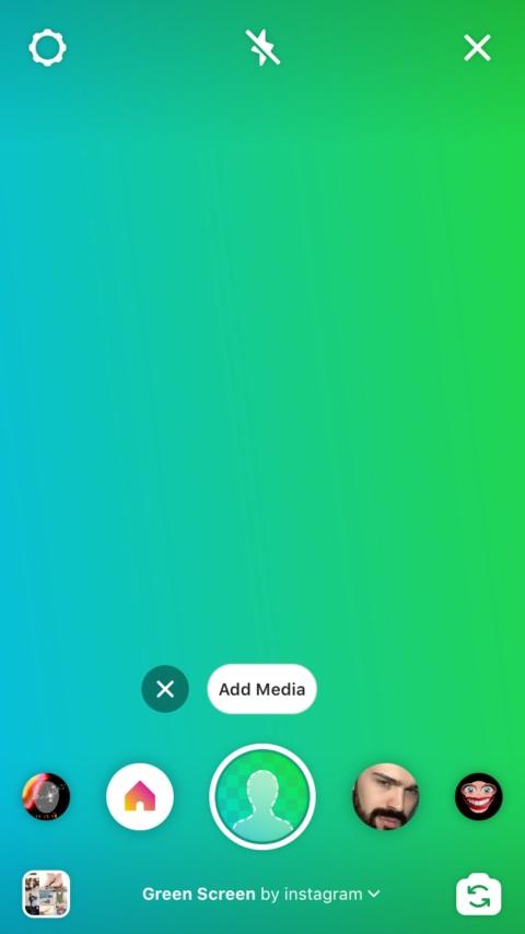 ویژگی green screen اینستاگرام