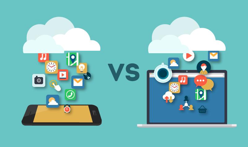 موبایل در مقایسه با دکستاپ