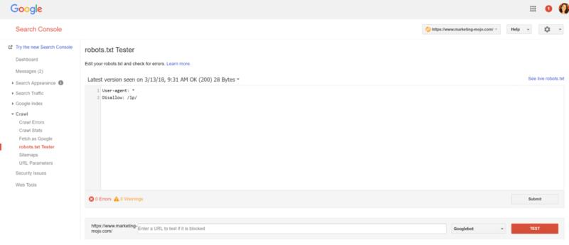 صفح گوگل سرچ کنسول