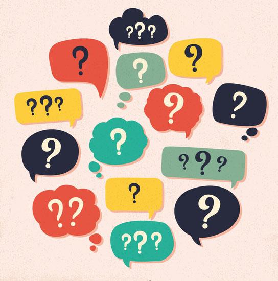 عکسی پر از علامت سوال