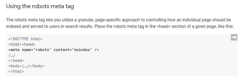 استفاده از تگ متا ربات ها