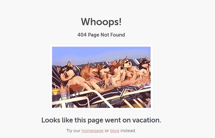 نمونه طراحی صفحه 404 CoSchedule