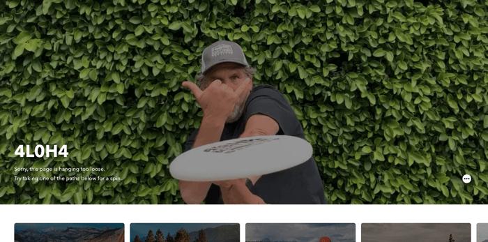 نمونه طراحی صفحه 404 Patagonia