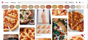 جست وجو پیتزا در پینترس