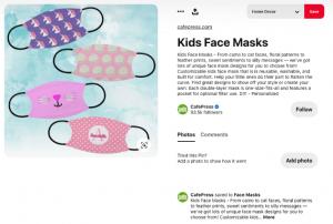 آگهی فروش ماسک کودکان در پینترس