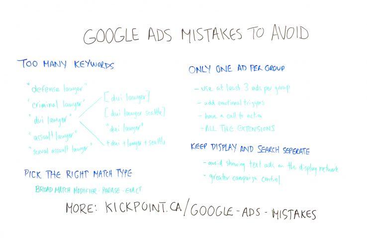 نکاتی درباره اشتباهات رایج در google ads