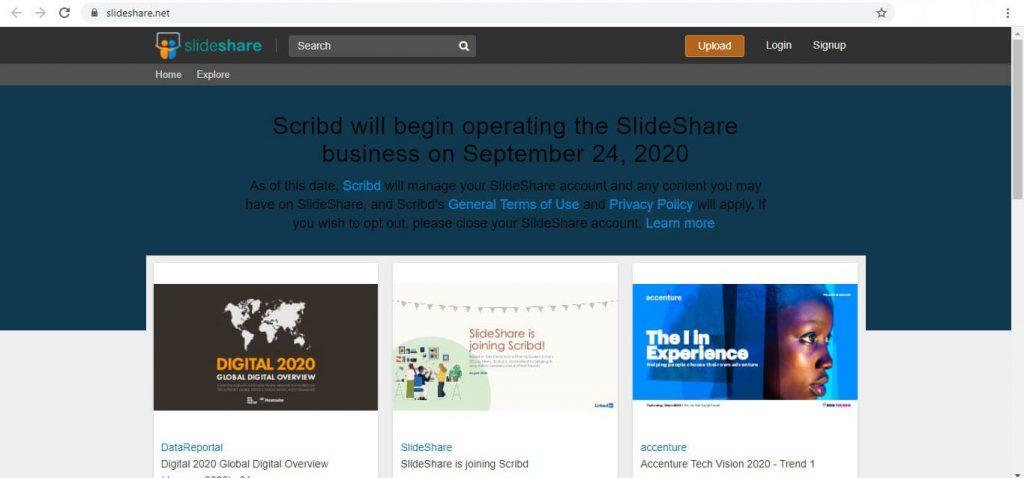 صفحه SlideShare