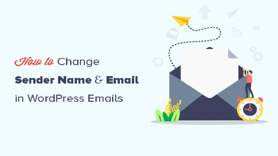 تغییر نام فرستنده در ایمیل وردپرس