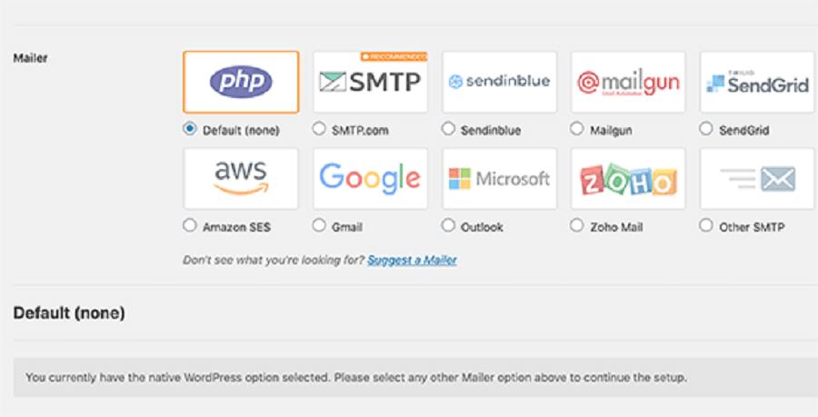 تنظیمات ارسال ایمیل فرستنده که در اختیار دارید
