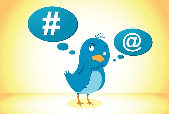 استفاده از هشتگ و تگ افراد در توییتر