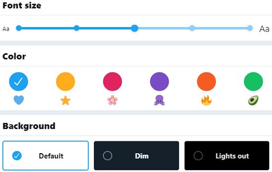 استفاده از رنگ ها، فونت ها و پس زمینه های جالب در حساب توییتر