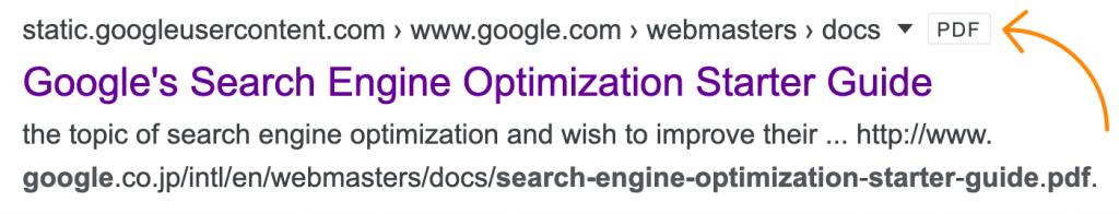 نمایش PDF ها در نتایج جستجوی گوگل