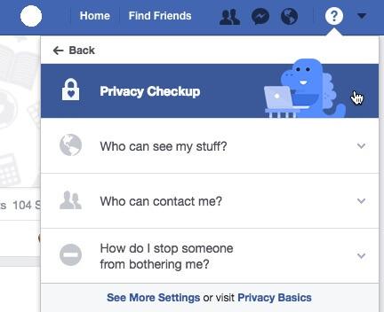 ویرایش تنظیمات حریم خصوصی