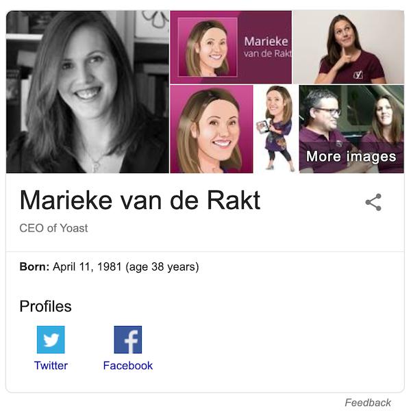 پنل دانش گوگل شخصی