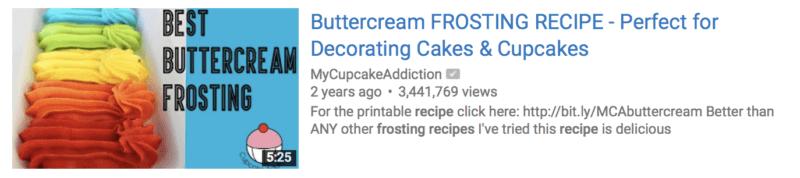 تصویر یک ویدئو در یوتیوب