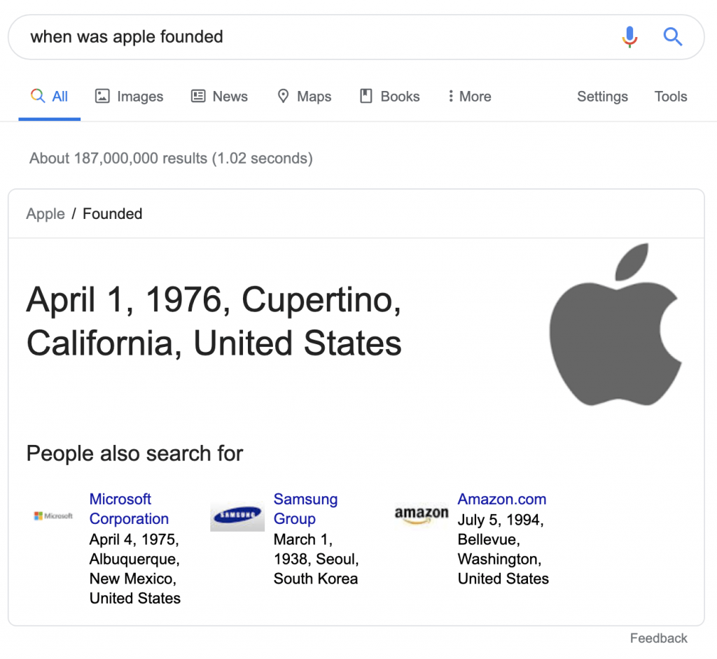 گراف دانش برای گوگل
