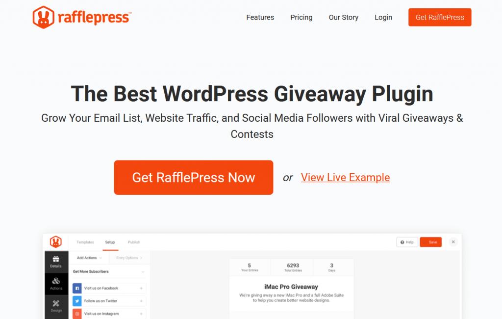 پلاگین RafflePress