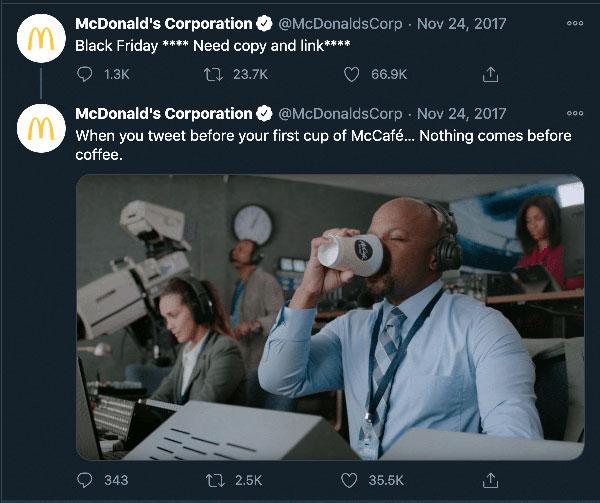 توئیت مک دونالد