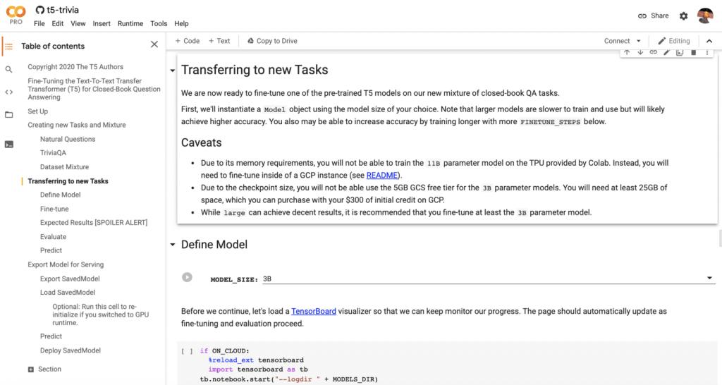 دفترچه یادداشت Google Colab