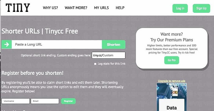 Tiny.CC یک ابزار کوتاه کننده لینک رایگان