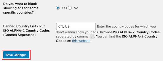 AdSense Invalid Click Protector تنظیمات