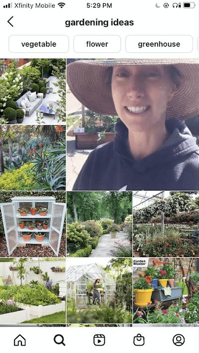 سئو ایده های باغبانی در اینستاگرام