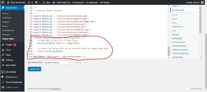 آپلود فرمت webp در وردپرس بدون افزونه