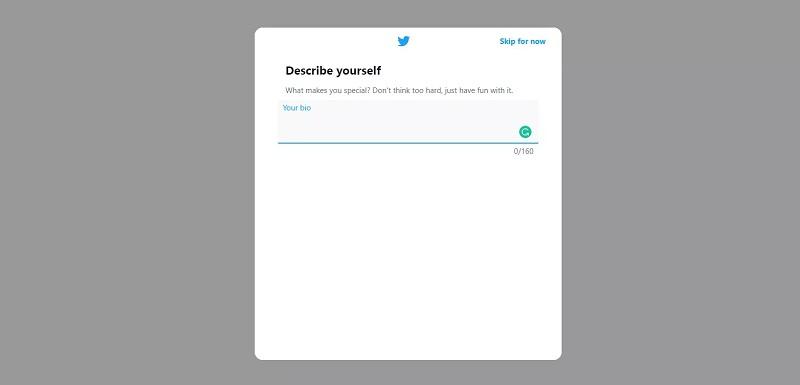 تنظیمات بیو توییتر