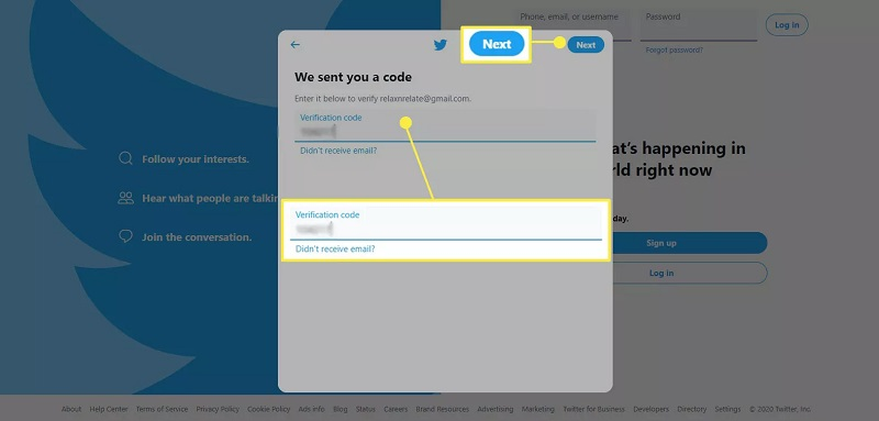 وارد کردن کد امنیتی