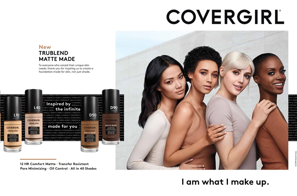 تگ لاین و اسلوگان Covergirl: من آن چیزی هستم که می سازم