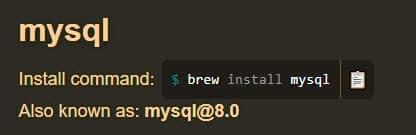 نسخه MySQL را در macOS آپدیت کنید