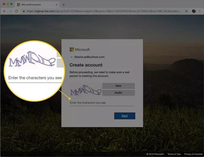 وارد کردن تصویر CAPTCHA